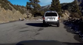 Dude With A Dash Cam Loses Control Of His Car And Flips Off The Side Of A Mountain!