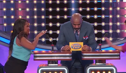 Woman Says Wrong Answer of Family Feud 8 Times