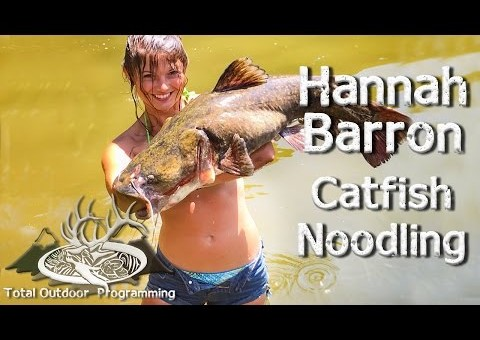 Cute Girl Catches Huge Catfish With Her Barehands