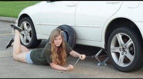 A woman's guide to changing a tire