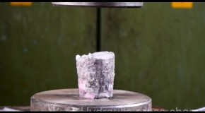 Crushing Pykrete With Hydraulic Press