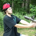 Idiot Shoots Himself In The Face With A Paintball Gun