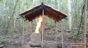 Primitive Technology : Barrel Tiled Shed