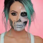 Awesome Melting Skull Make-Up