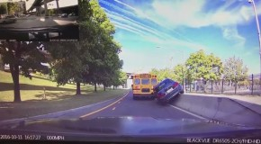 Dash Cam Video Showing A BMW Crashing