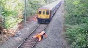 Drunk Idiot Vs A Train