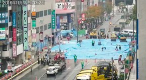 Giant Sinkhole Gets Repaired In Two Minutes