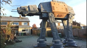 Colin Furze Built A Giant Star Wars At-At In His Garden
