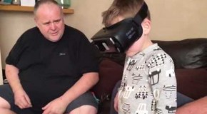 A Hilarous Reaction When Trying Virtual Reality For The First Time