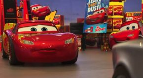 Lightning McQueen Trains Hard to Make a Comeback in the New Trailer for Cars 3