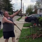 Man Shows Off His Gardening Skill Moves