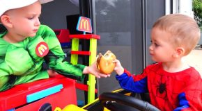 What Happens When A Child Superhero Wants A Hamburger