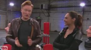 Conan Works Out With Wonder Woman Gal Gadot – Conan On Tbs