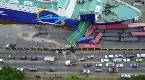 Ferry Kydon Crashes Into Pier At Port Of Santo Domingo