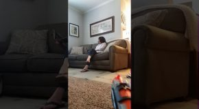 Lucky Nerf Shot At Mom