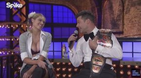 Ricky Martin, Kate Upton, And Cleavage Discuss Their Lip Sync Battle