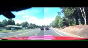 Camaro Ends Up A Pole After Brake Checking