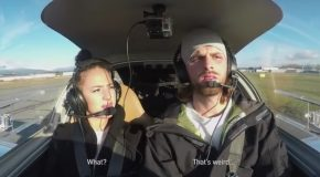 Marriage Proposal While Being In An Airplane's Cockpit For The First Time