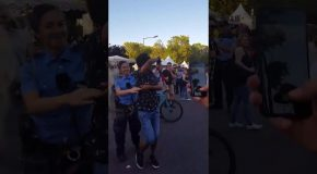 Police Officer Cuts Loose At Berlin Carnival, Salsa Dances With Overjoyed Stranger & Totally Steals The Show!
