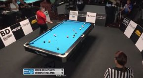 An Unbelievable Run Of Amazing Pool Shots