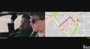 Baby Driver Car Chase Mapped