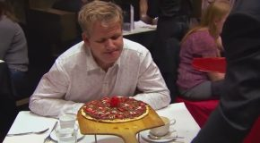 Ramsay Forced to Spit Out Bacon & Chocolate Pizza!