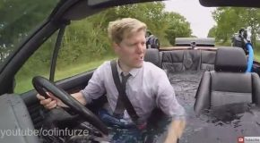 Colin Furze Turns a BMW Into a Drivable Hot Tub Car