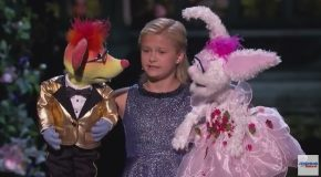 Kid Ventriloquist Sings With A Little Help From Her Friends America's Got Talent 2017