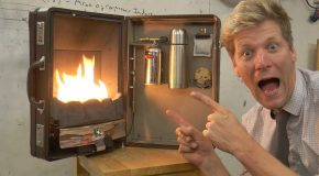 Colin Furze Turns a Briefcase Into a Portable Gas Fireplace