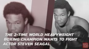 George Foreman Calls Out Steven Seagal to Fight in Vegas