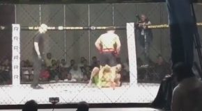 MMA Fighter Knocks Out His Opponent…