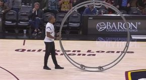 "Cavs Half Time ""German Wheel"" Performance"