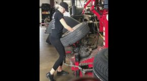 Miss Yoga Pants Mechanic Will Inflate More Than Just Your Tires