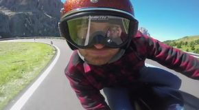 Riding a Cafe Racer Through the Dolomites