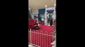 Woman Goes Off On Mall Santa For Not Being An Imposter