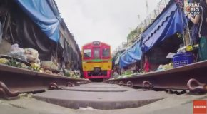 A Train Runs Through It : Thailand's Most Dangerous Market