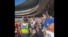 Barmy Army's Response to Security Telling Someone to Put Their Shoes on