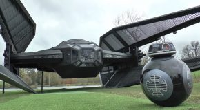 Colin Furze Builds a Life-Size Model of Kylo Ren's Tie Silencer