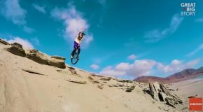 Daring Unicyclist Lutz Eichholz Conquers Mountains