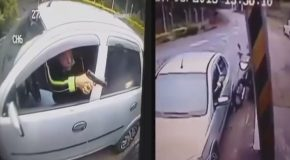 Motorcycle Robbery Goes Wrong When The Victim Pulls a Gun