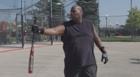 This 56 Year Old Security Guard Can Hit A 250 MPH Fastball!