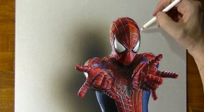 Amazing Spider Man Drawing – How to Draw 3D Art