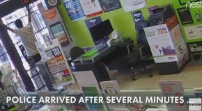Crook Gets Locked In Store, Begs For Freedom