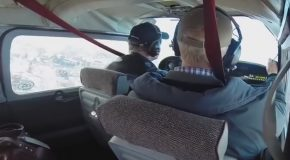 Goose Suddenly Crashes Through Airplane's Windshield