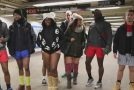 No Pants Subway Riders Brave Freezing Temperatures in New York city