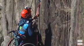 Wheelchair Won't Stop Athlete From Mountain Climbing