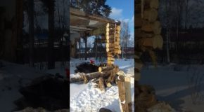 Russian Man Discovers He Should Probably Stand Outside the Building He's Knocking Down