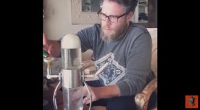 Seth Rogen Is In Complete Awe Of This New Gravity Bong