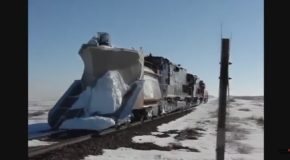 Trains VS Snow – Snow Plowing Compilation