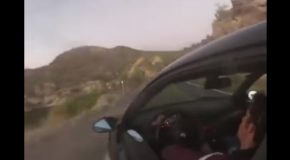 Wannabe Race Car Driver Takes His BMW Right Off a Cliff